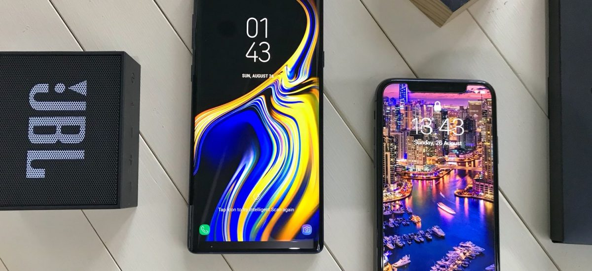 Samsung Galaxy Note 9 vs Apple iPhone X